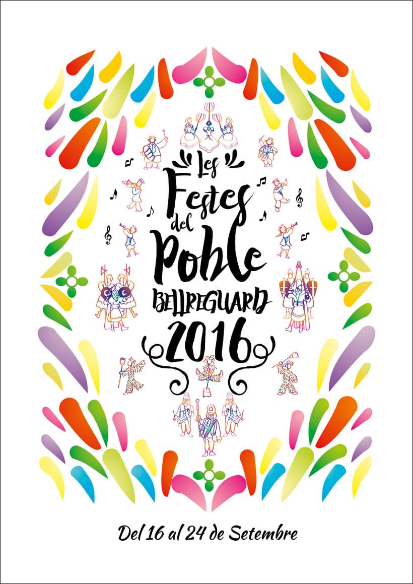 Cartell de Festes de Bellreguard 2016 2
