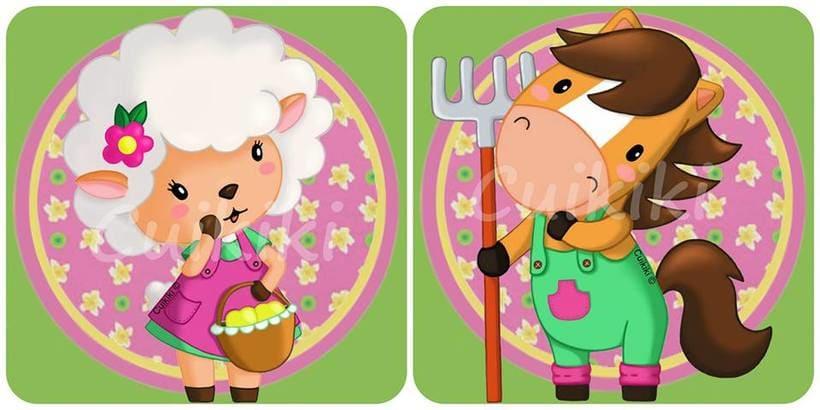 Animales de la granja. Ilustración digital. -1