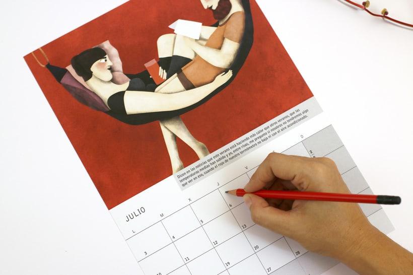 Calendario ilustrado con relato 'Amor Rojo' para 2017 4
