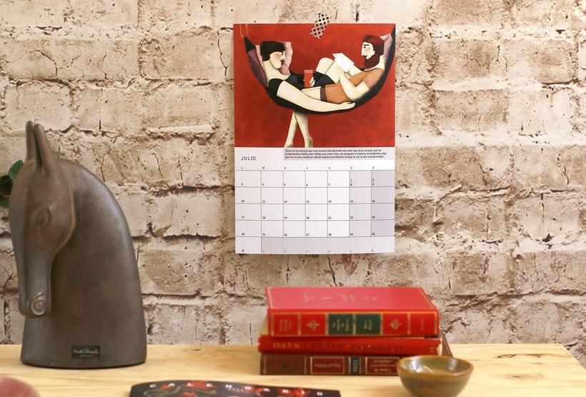 Calendario ilustrado con relato 'Amor Rojo' para 2017 5
