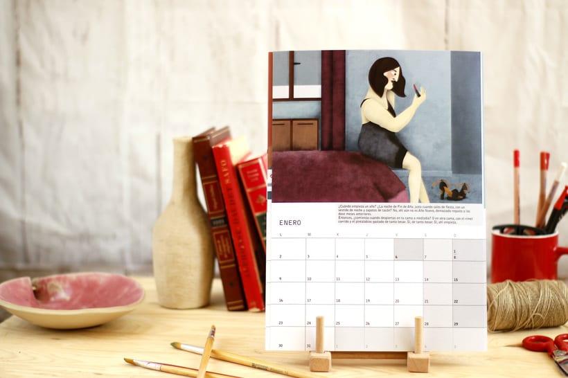 Calendario ilustrado con relato 'Amor Rojo' para 2017 6