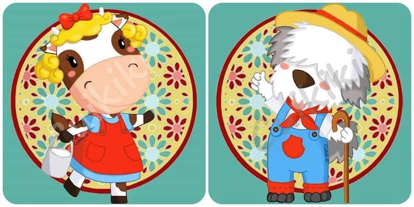 Animales de la granja 2. Ilustración digital. -1