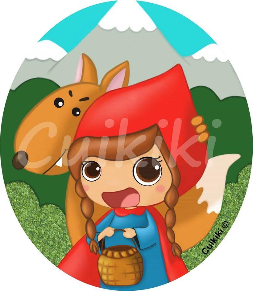 Caperucita Roja. Ilustración digital. -1