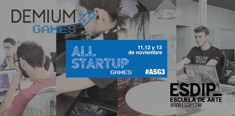 Se acerca el evento AllStartup Games 3 organizado por Demium Games 0