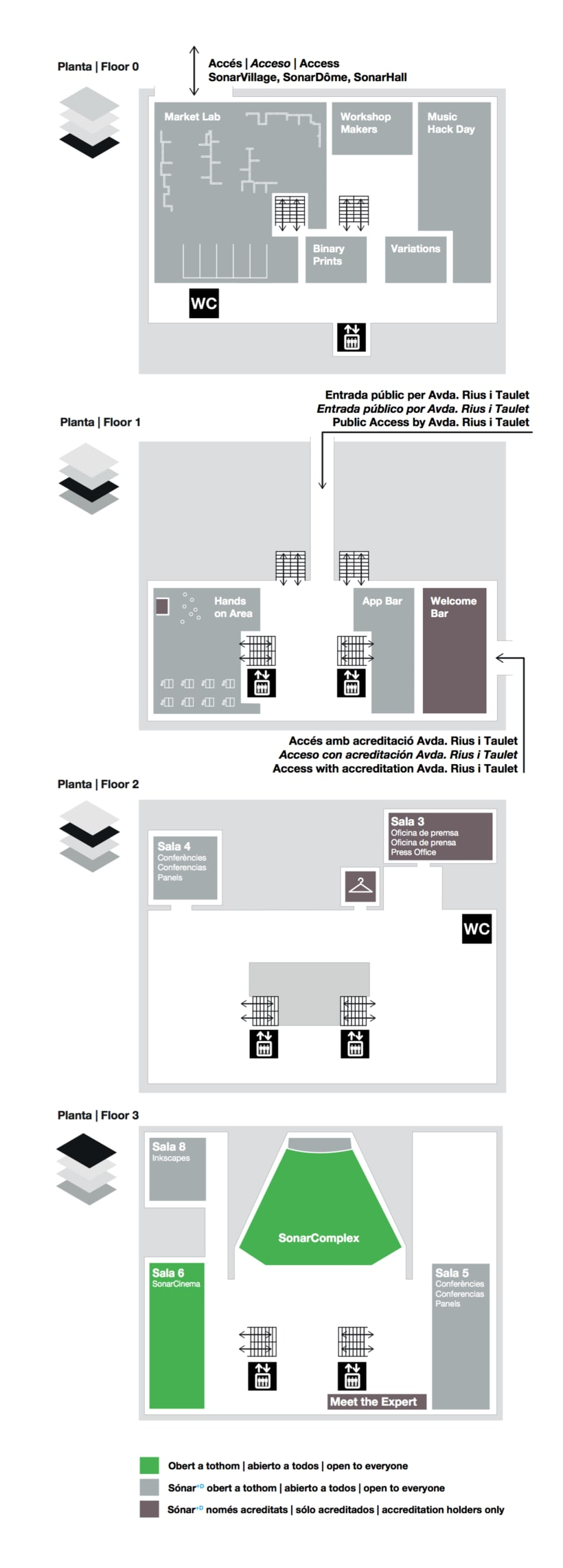 SONAR 2013 - Maps for stages & signage 2