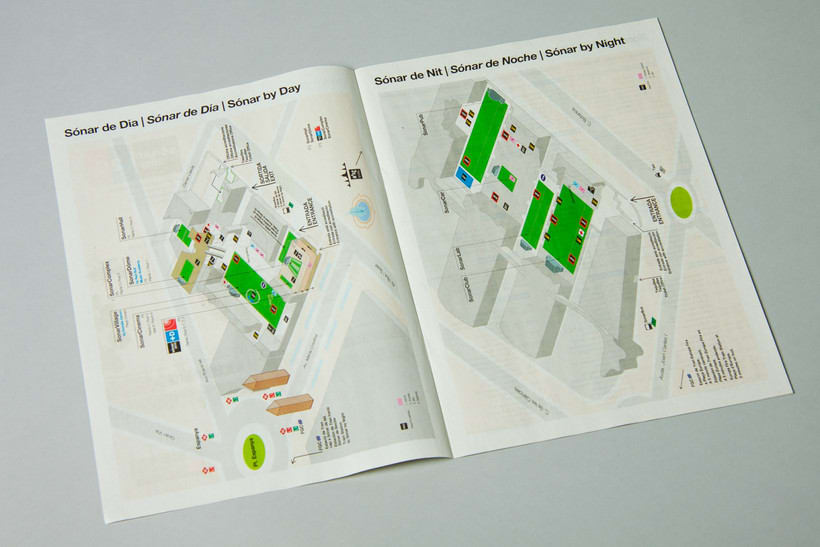 SONAR 2013 - Maps for stages & signage 4