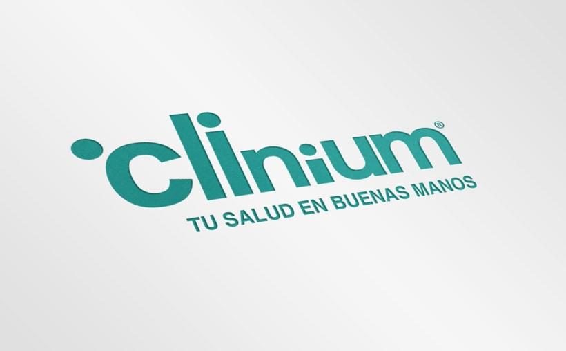 Identidad corporativa. Clinium Salud 0