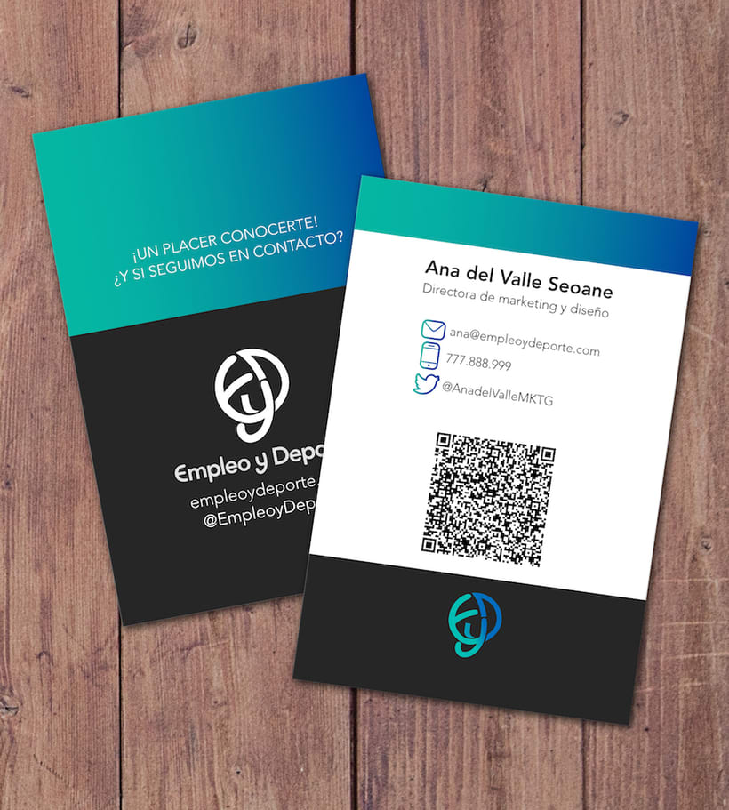¡Un placer conocerte! · Empleo y deporte Business Card 4