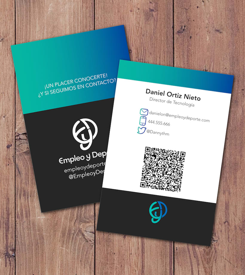 ¡Un placer conocerte! · Empleo y deporte Business Card 3