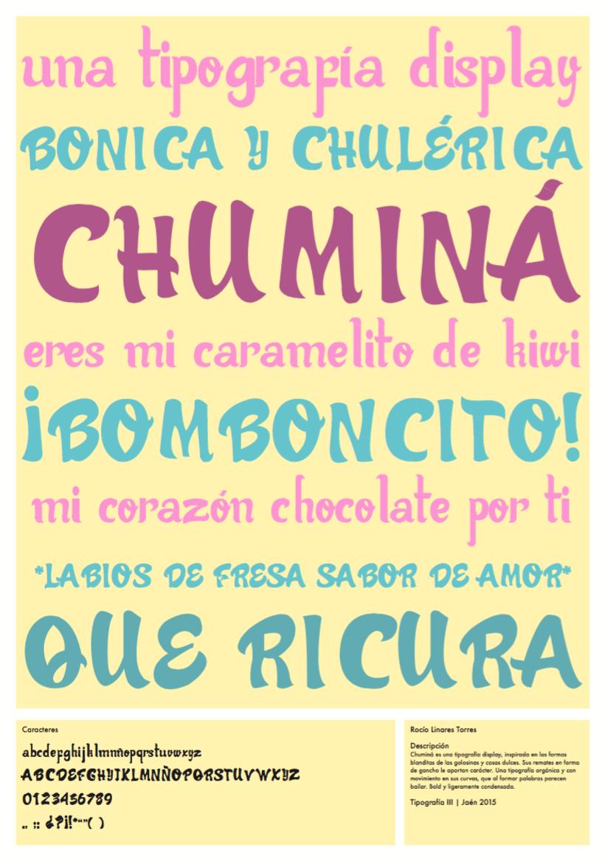 """Proyecto tipográfico """"Chuminá"""" 4"""