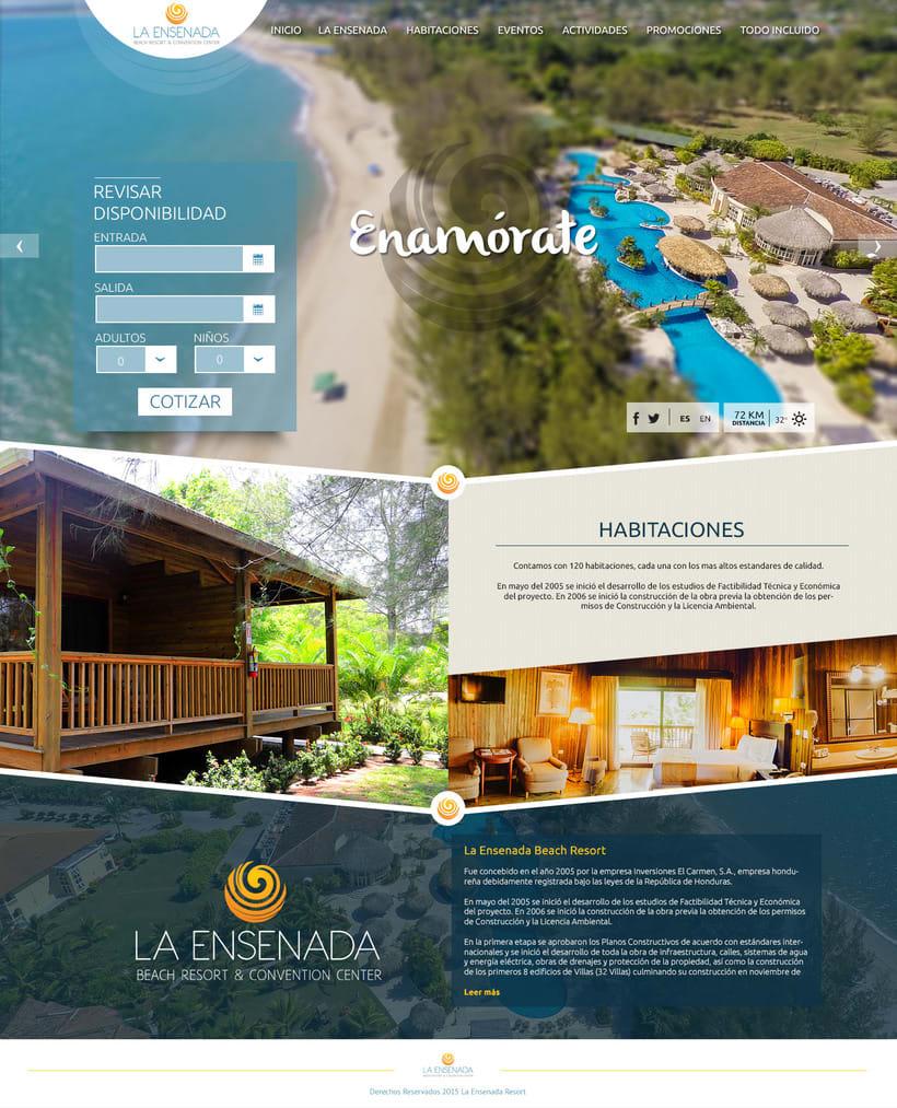 Pagina web - La Ensenada Resort 0