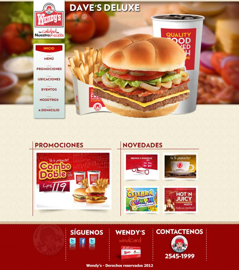 Pagina web - Wendys -1