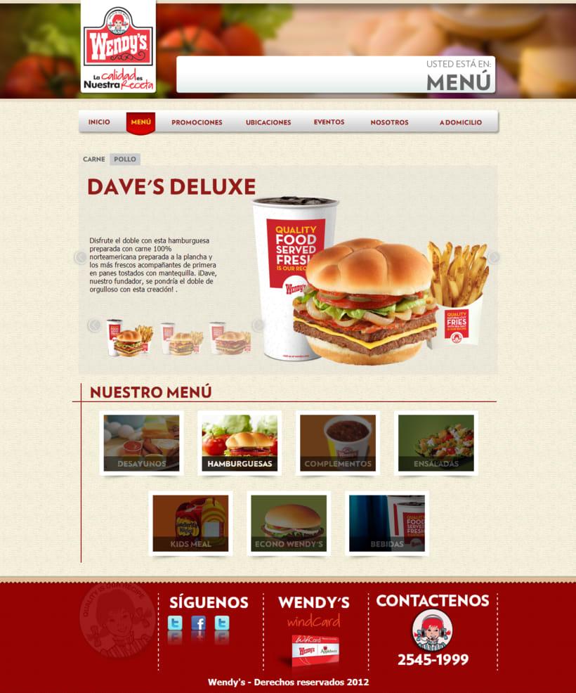 Pagina web - Wendys 0