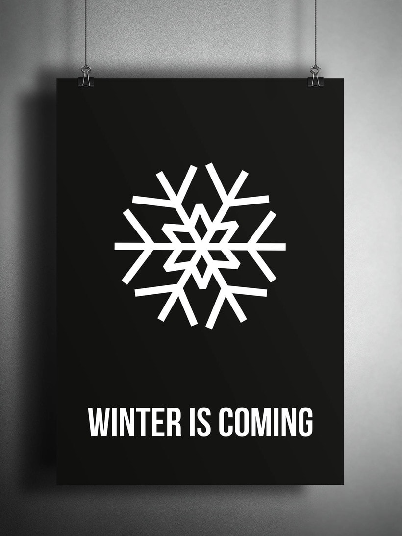 POSTER WINTER IS COMING -1