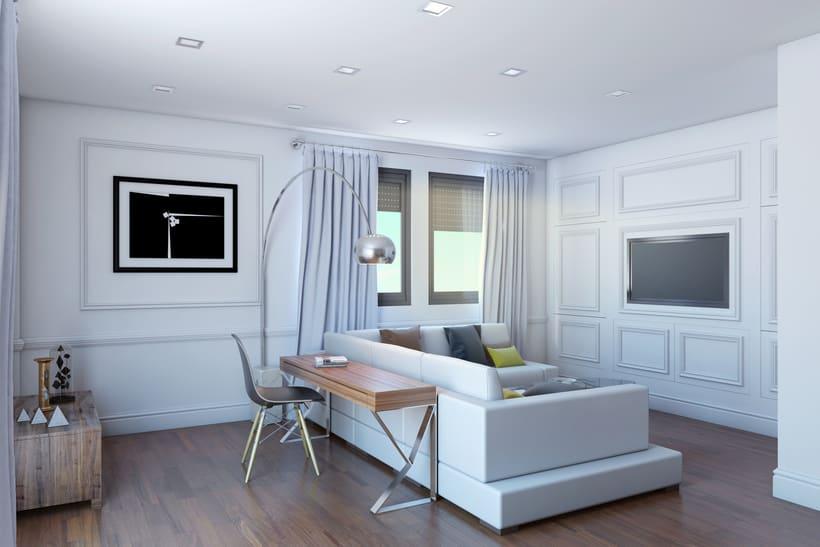 Interiores 3D de Casa Particular en Ciudad Real 0
