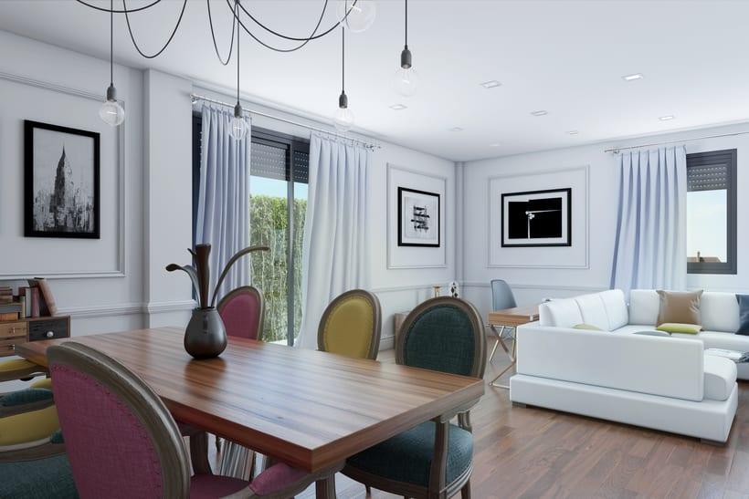 Interiores 3D de Casa Particular en Ciudad Real 1