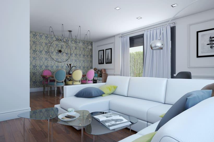 Interiores 3D de Casa Particular en Ciudad Real 2