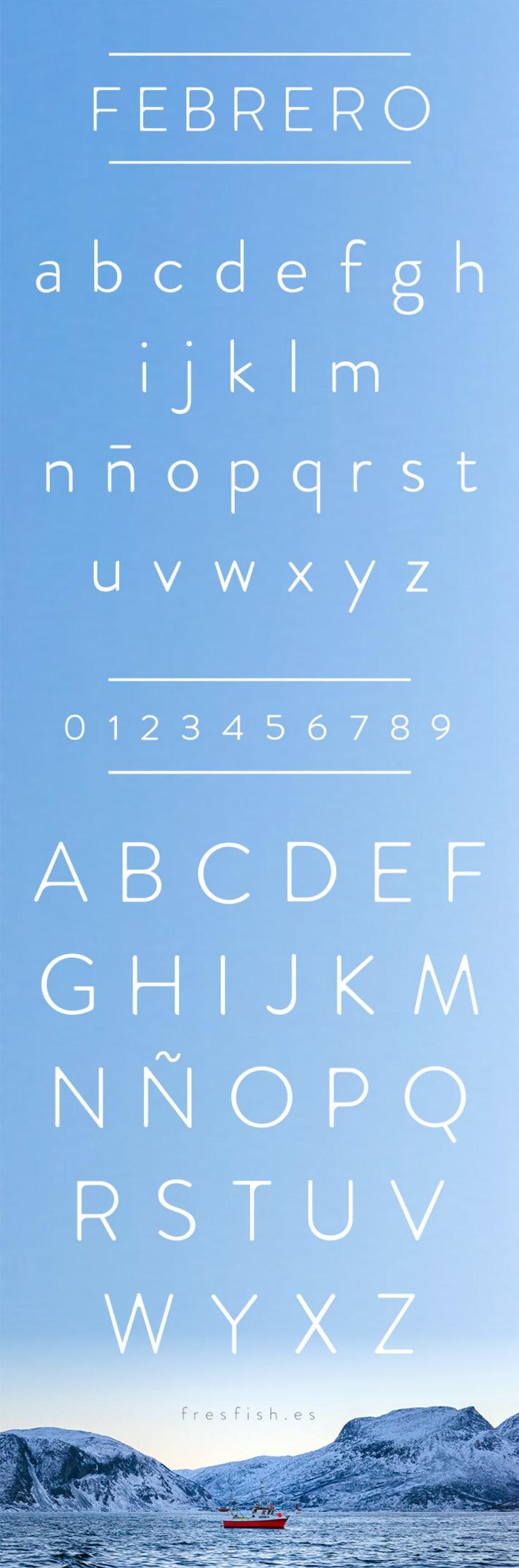 Febrero, una tipografía fresca y elegante. 0