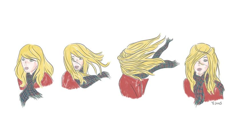 Blonde dans le vent 1