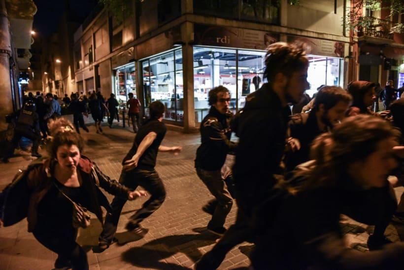 Disturbios en el barrio de Gràcia, Barcelona 0