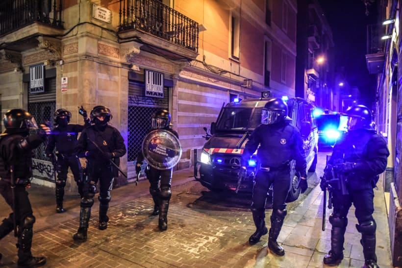Disturbios en el barrio de Gràcia, Barcelona 1
