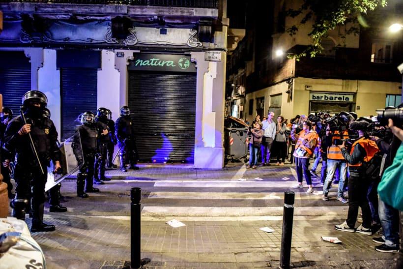 Disturbios en el barrio de Gràcia, Barcelona 2
