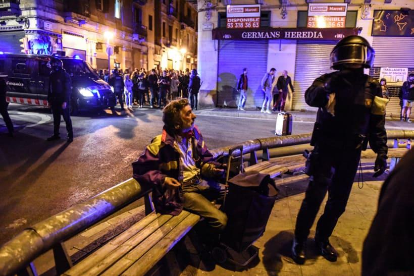 Disturbios en el barrio de Gràcia, Barcelona 3