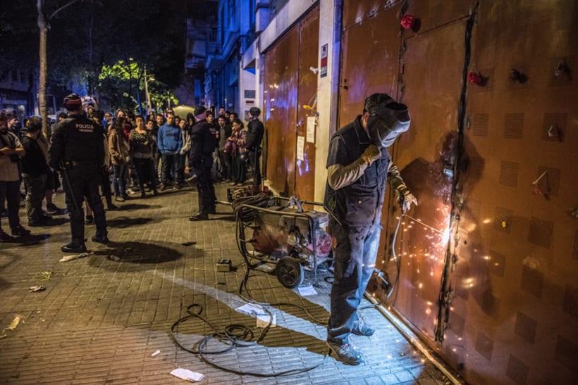 Disturbios en el barrio de Gràcia, Barcelona 4