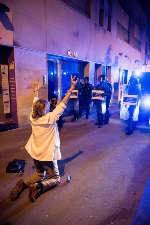 Disturbios en el barrio de Gràcia, Barcelona 6