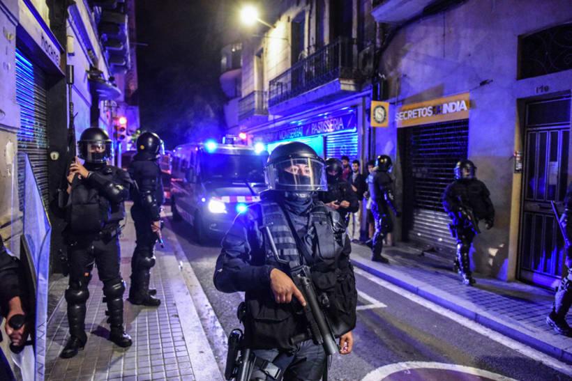 Disturbios en el barrio de Gràcia, Barcelona 11