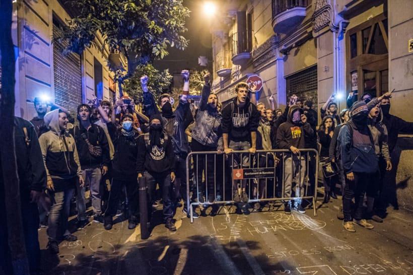 Disturbios en el barrio de Gràcia, Barcelona 12