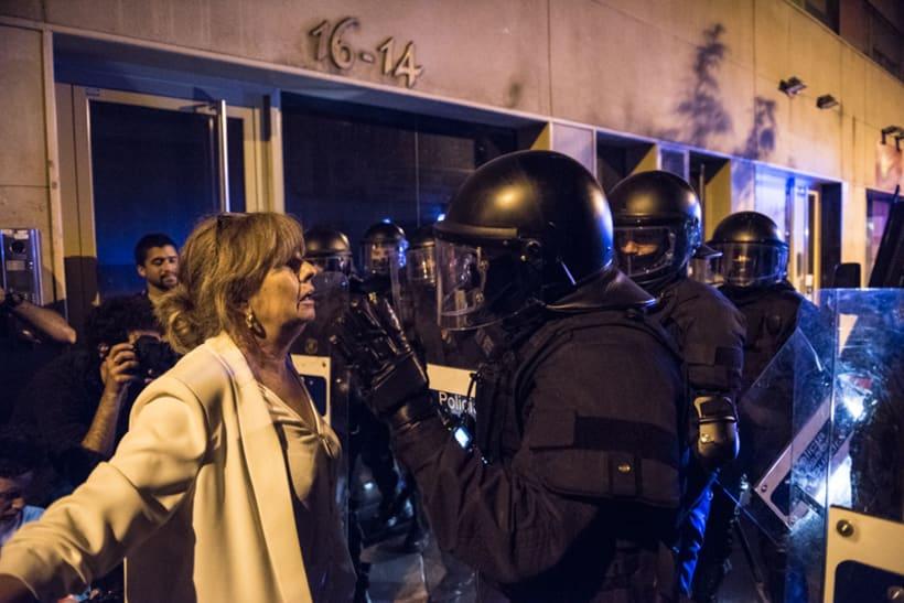 Disturbios en el barrio de Gràcia, Barcelona 13