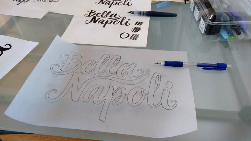 Logotipo Restaurante Bella Napoli 3