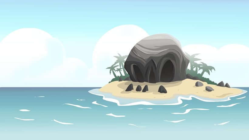 BG design Video-game combat - Pirate island + platform 0