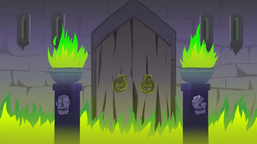 BG design Video-game combat - Enchanted castle+ platform -1