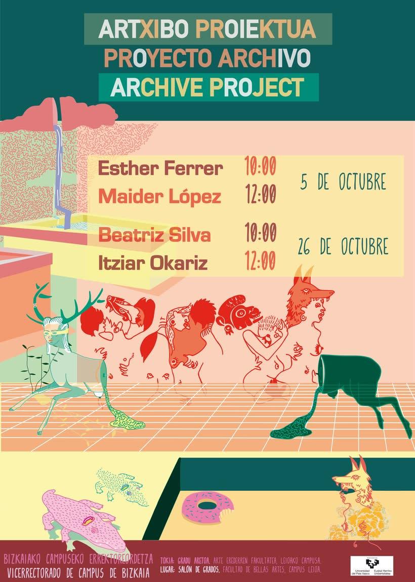 """Cartel """"Proyecto Archivo"""" para la Universidad del Pais Vasco 0"""