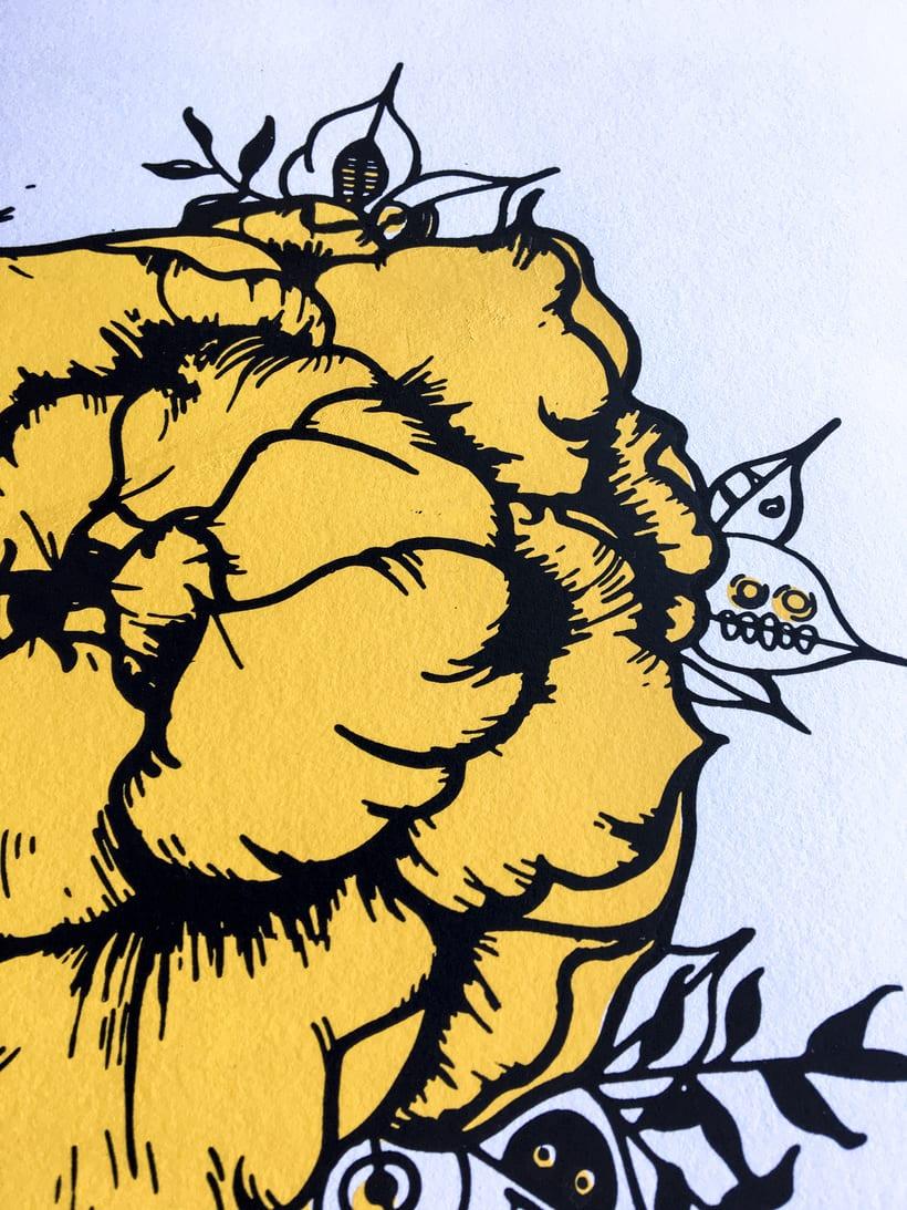 Serigrafía en papel de una de mis txamanas 3