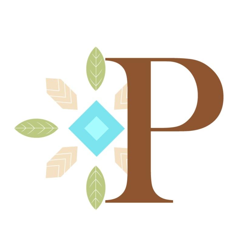 Diseño de letra capitular de cuento de Pocahontas 0
