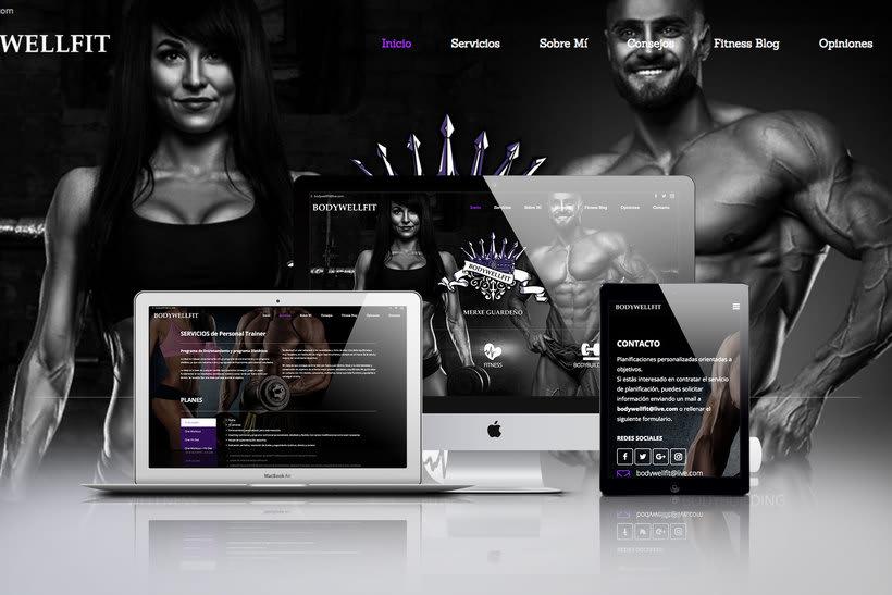 Nuevo proyectoDiseño web para BodyWellFit 0