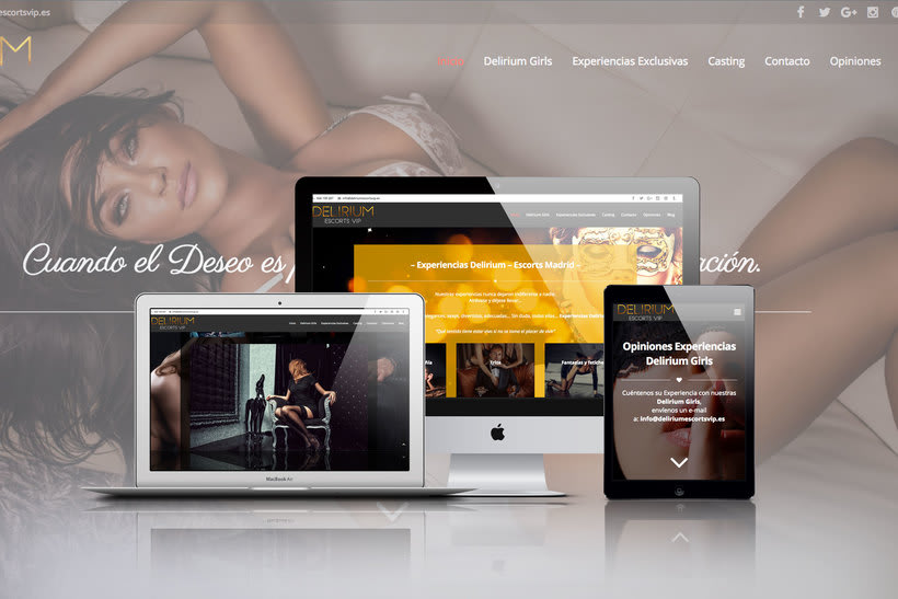 Diseño web para Delirium Vip 1