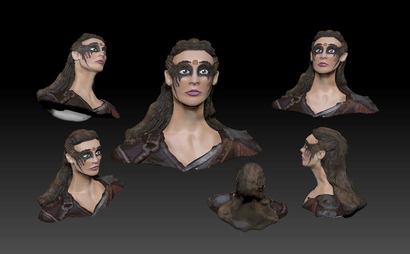Proyecto de curso modelado de personajes en 3D: Lexa 0