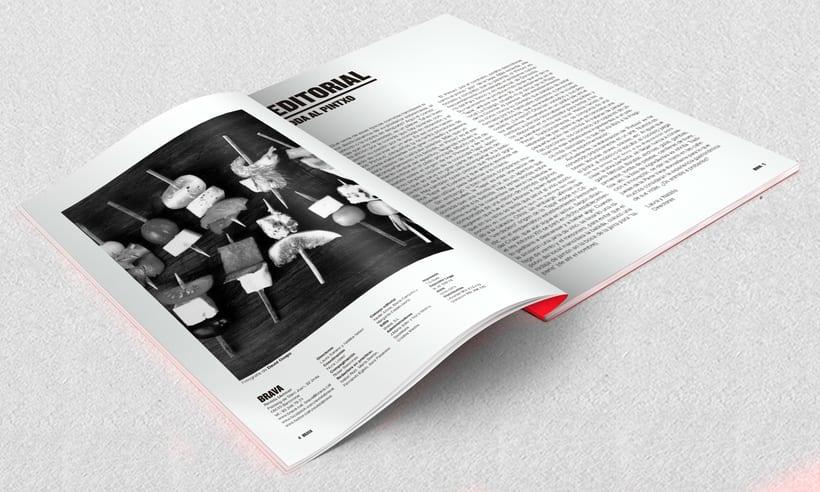Brava. Proyecto editorial_Revista de tapas y de rutas por diferentes ciudades. Natalia Nebot_Laura Soriano 2