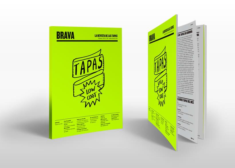 Brava. Proyecto editorial_Revista de tapas y de rutas por diferentes ciudades. Natalia Nebot_Laura Soriano 4
