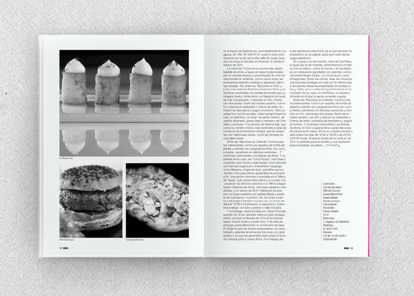 Brava. Proyecto editorial_Revista de tapas y de rutas por diferentes ciudades. Natalia Nebot_Laura Soriano 22