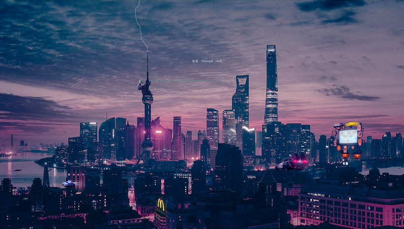 Mi Proyecto del curso: Secretos del fotomontaje y el retoque creativo / Shangai _ixed 1