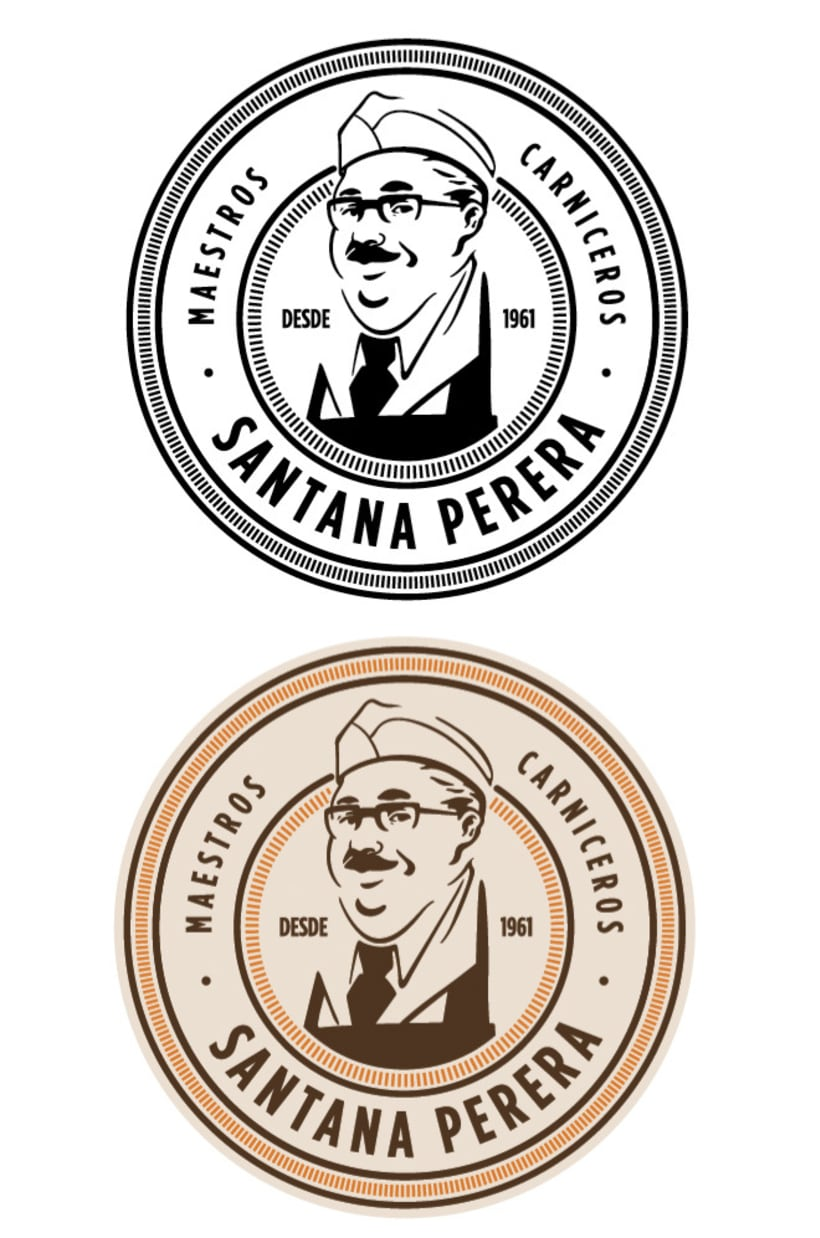 Ilustración, logo de Santana Perera 6