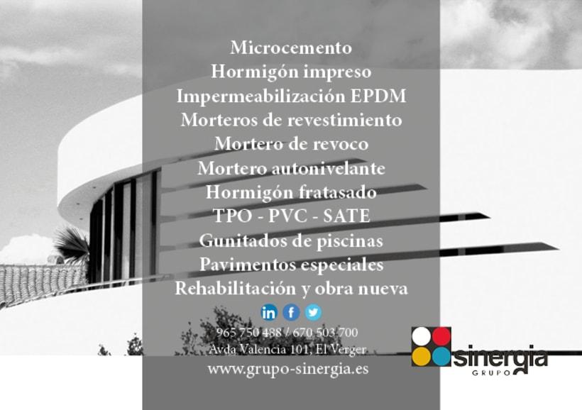 Algunos de nuestros trabajos para nuestro cliente GRUPO SINERGIA 7