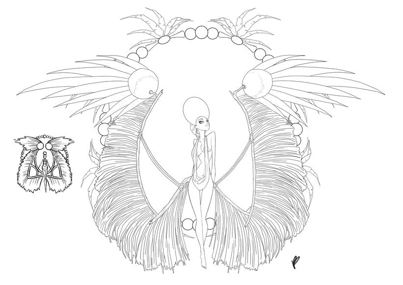 Diseño de personaje - Hedera, Queen Of Roses 3