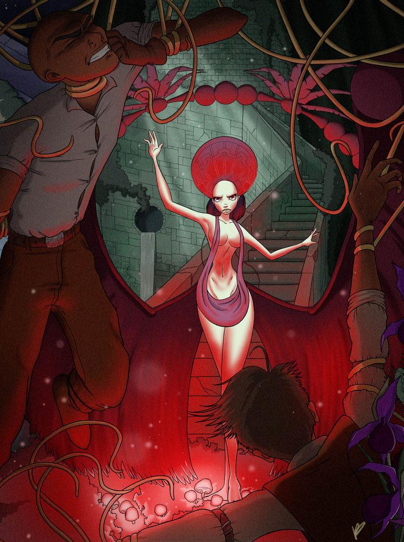 Tríptico de portadas. Queen of Roses 1