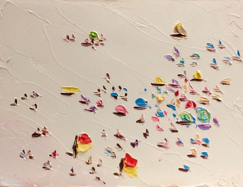 Escenas playeras al óleo por Sally West 6